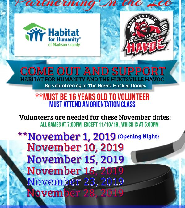 Habitat and The Huntsville Havoc: Partnering on the ICE